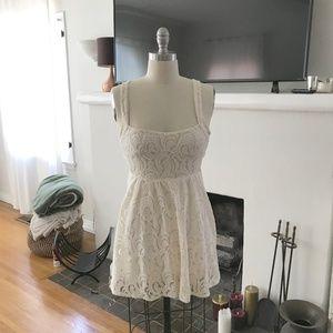 Ivory Free People Lace Dress, Size 2
